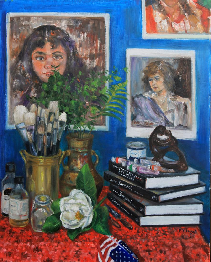 A Corner of My Studio (oil)