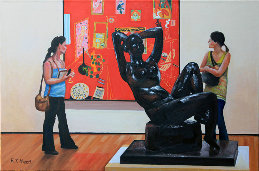 Admiring Matisse (oil)