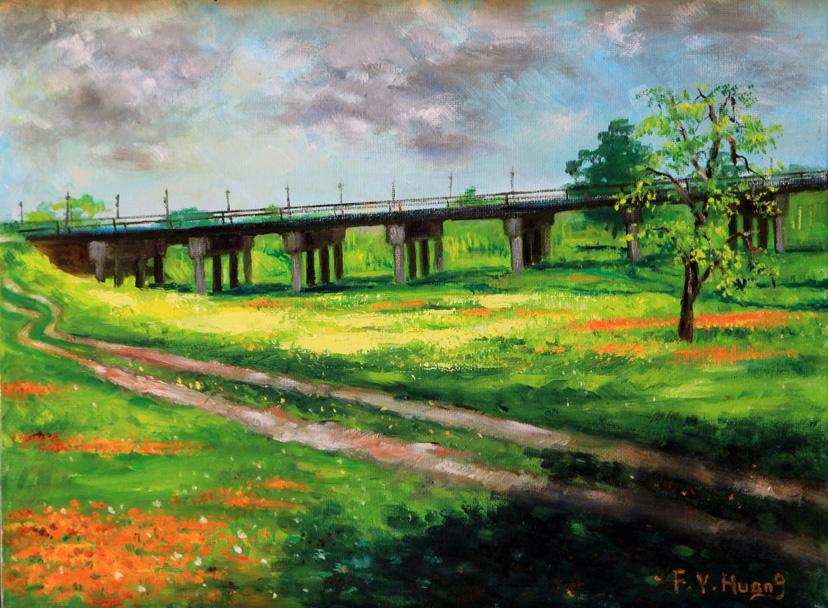 Bridge over Creek (oil)