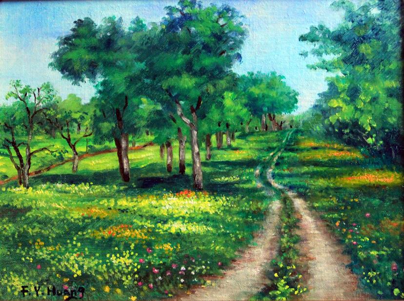 Creek Trail in Spring (oil)