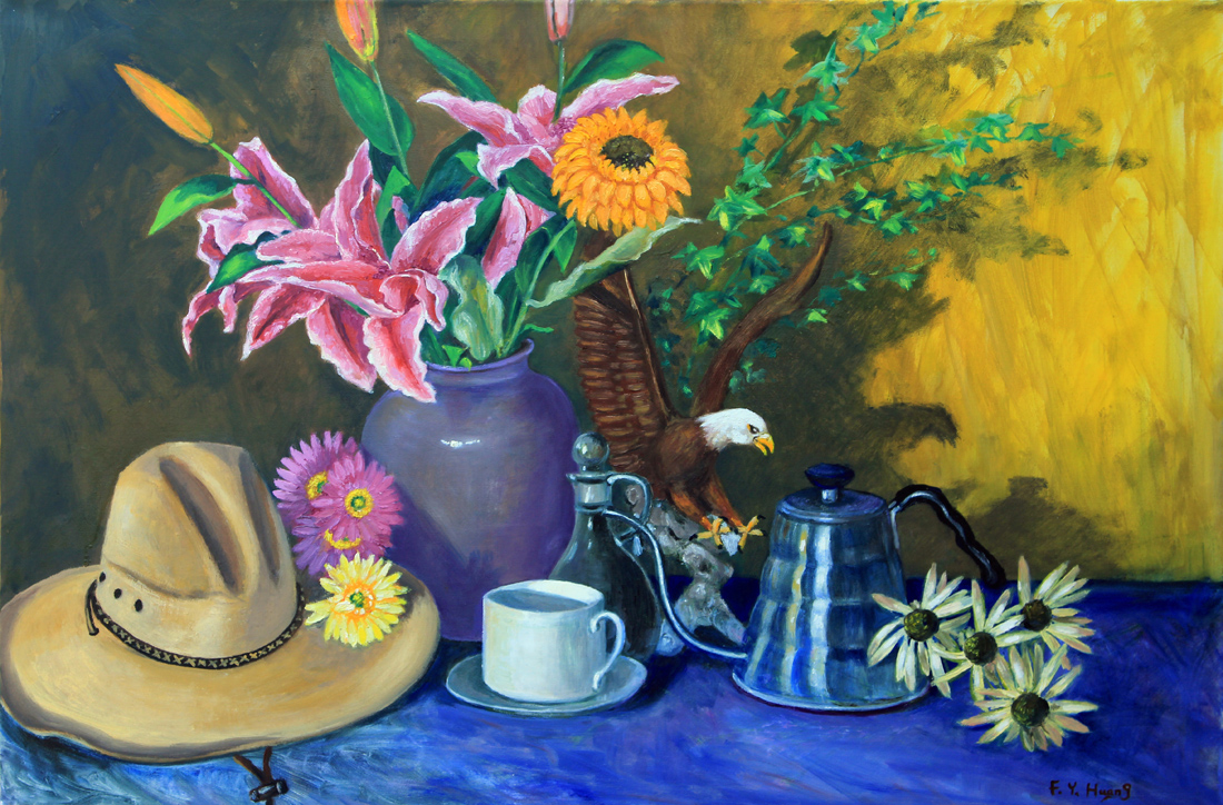 Still Life with Bald Eagle (oil)