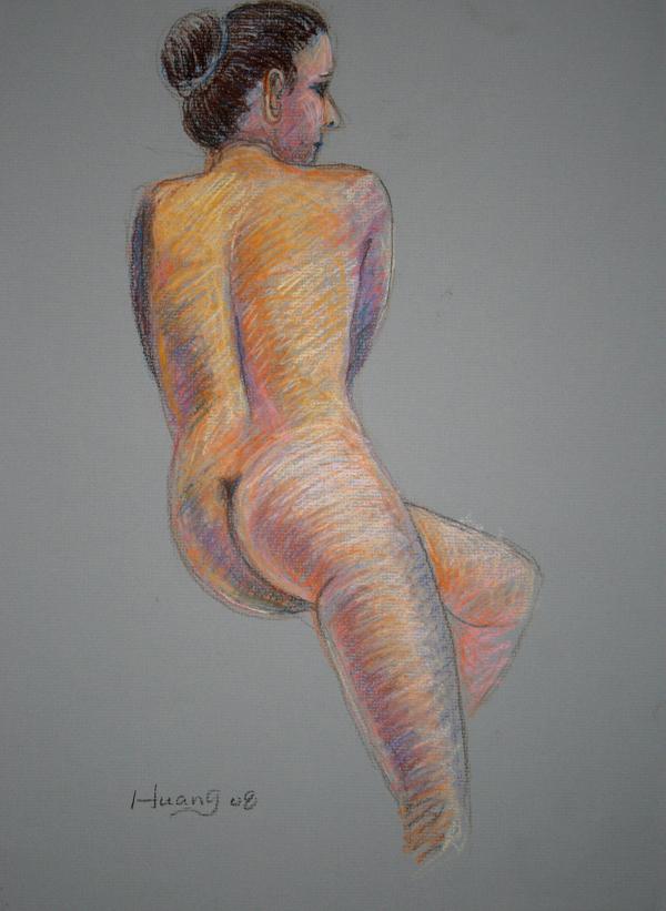 Female Back Study (pastel)