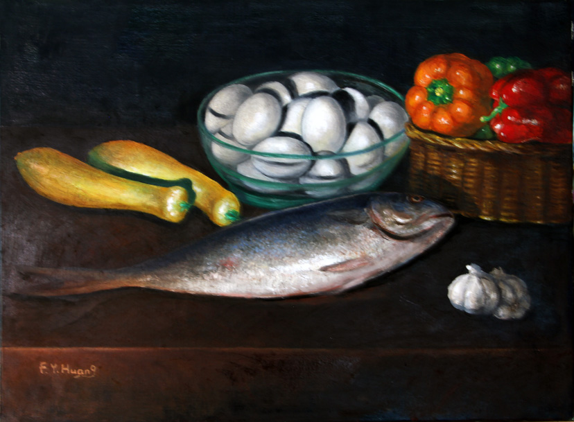Fish in the Kitchen (oil)
