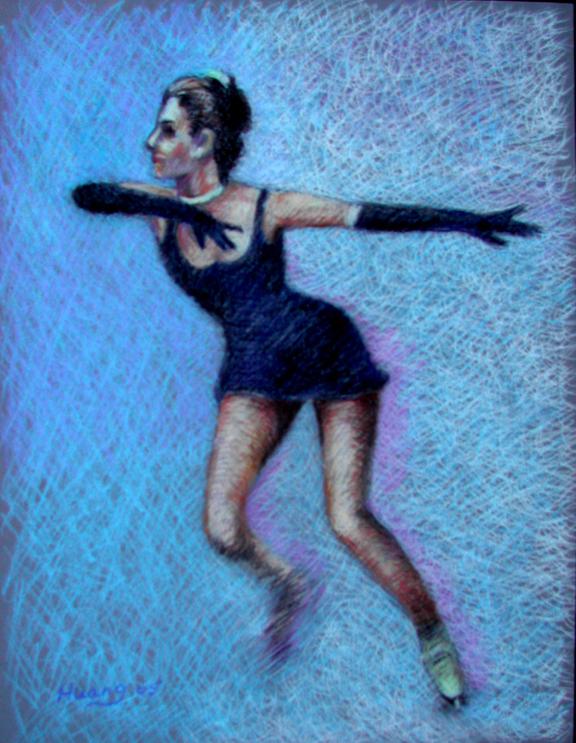 Ice Skater Spin 01 (pastel)