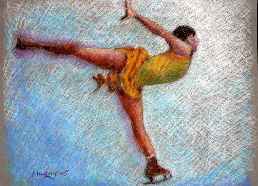 Ice Skater Spin 02 (pastel)