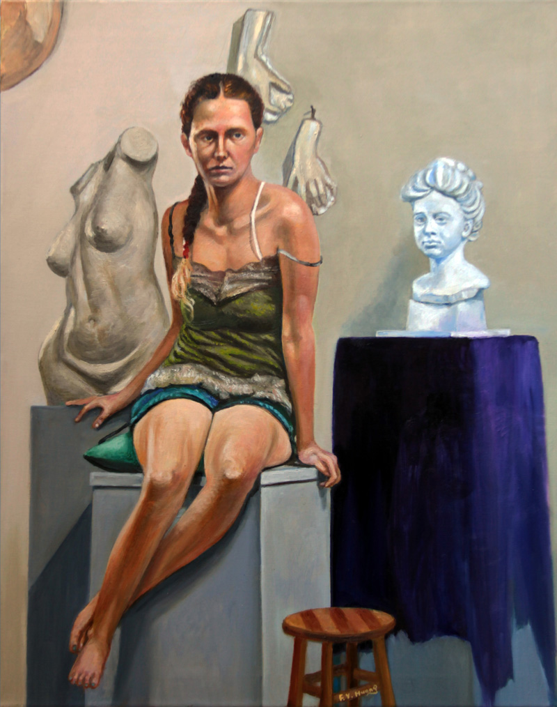 Morgan in Studio 02 (oil)