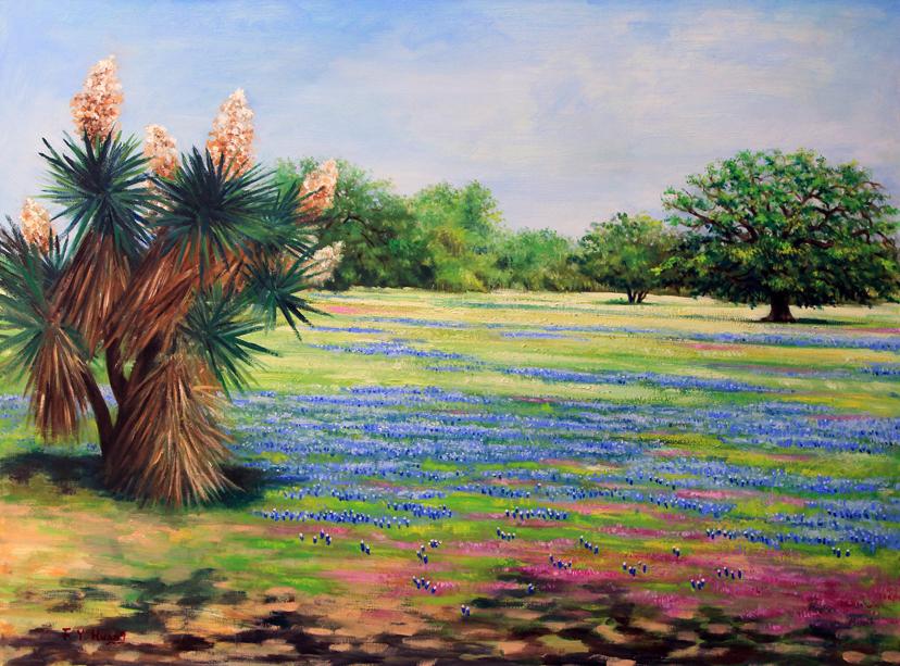 Native Texans (oil)