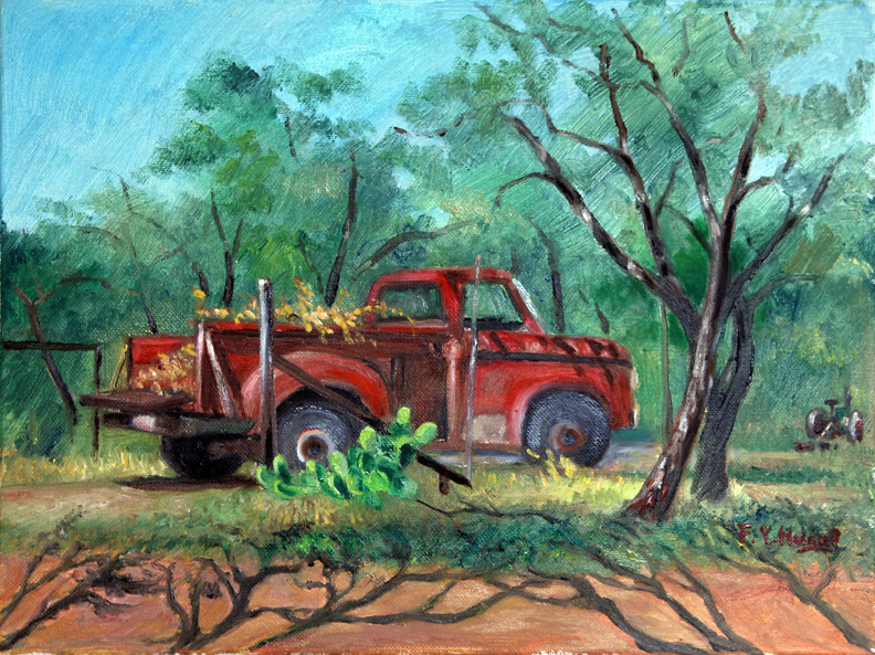 Ranch Red Truck (oil)
