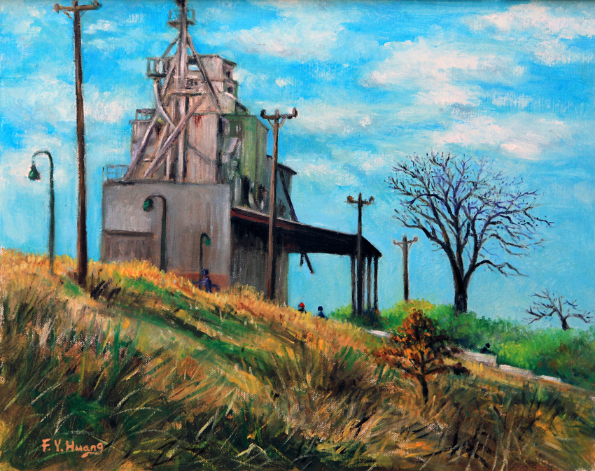 River Side Factory (oil)