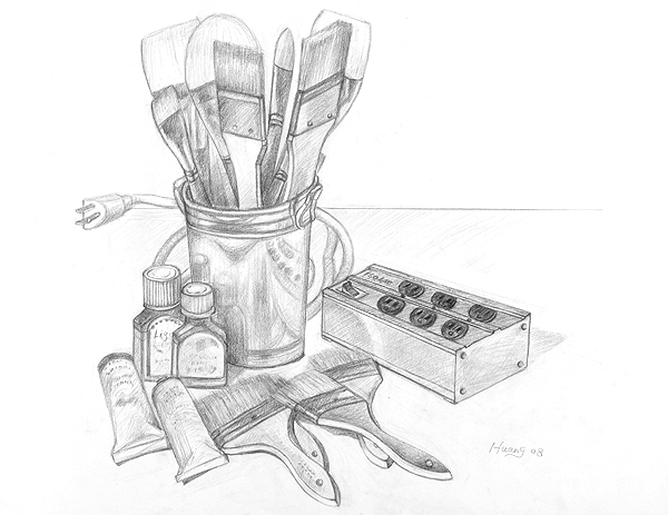 Brushes and Paints (graphite)