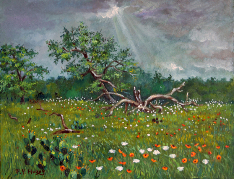 Sun Breaking Through (oil)