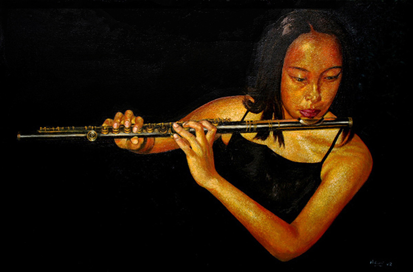 The Flute Player (oil)