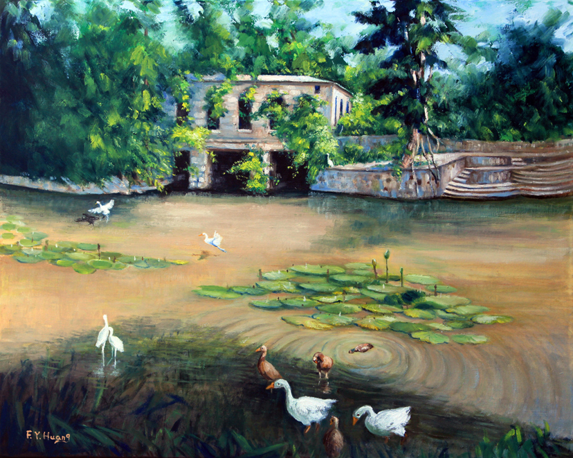 Water Gatehouse in Summer (oil)