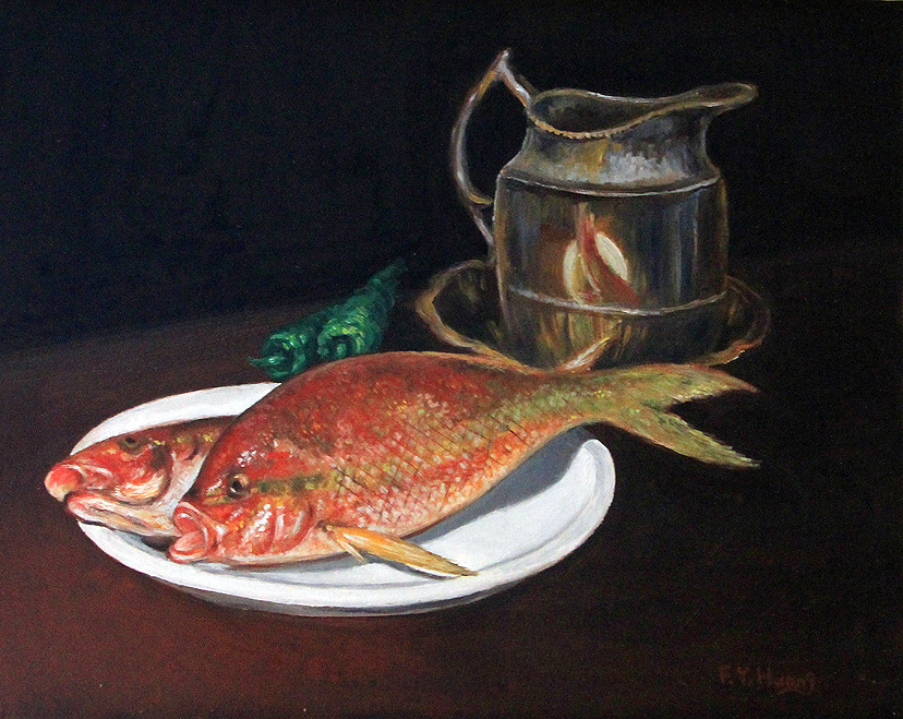 Yellow Tail Snappers (oil)
