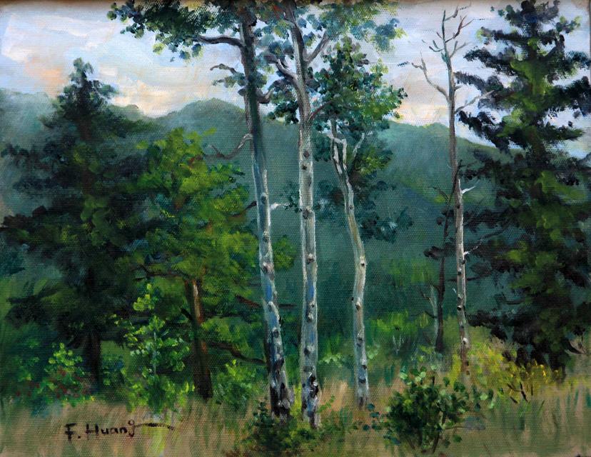Aspen Woods (oil)