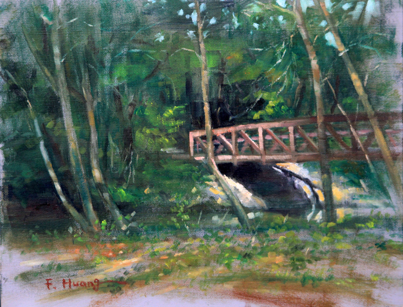 Bridge in Park (oil)