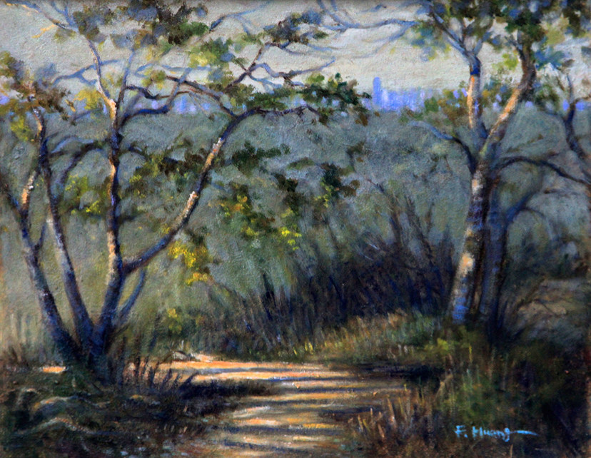 City Park Trail in Late Afternoon (oil)