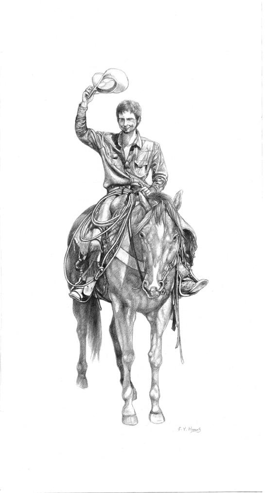 Rodeo Cowboy (graphite)