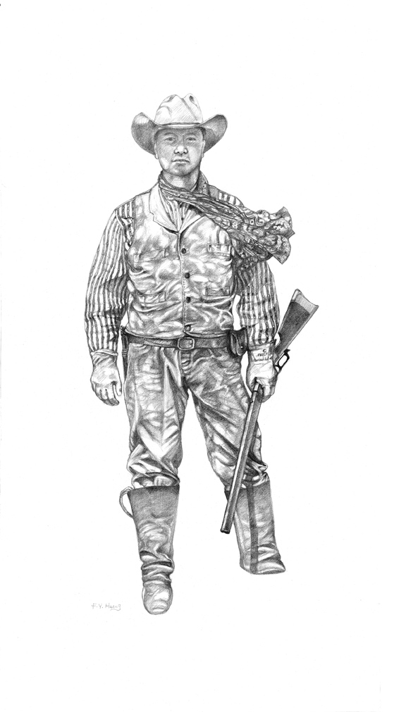 The Pioneer Guard (graphite)