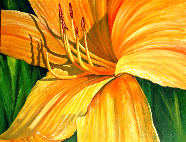 Day Lily  No. 4 (oil)