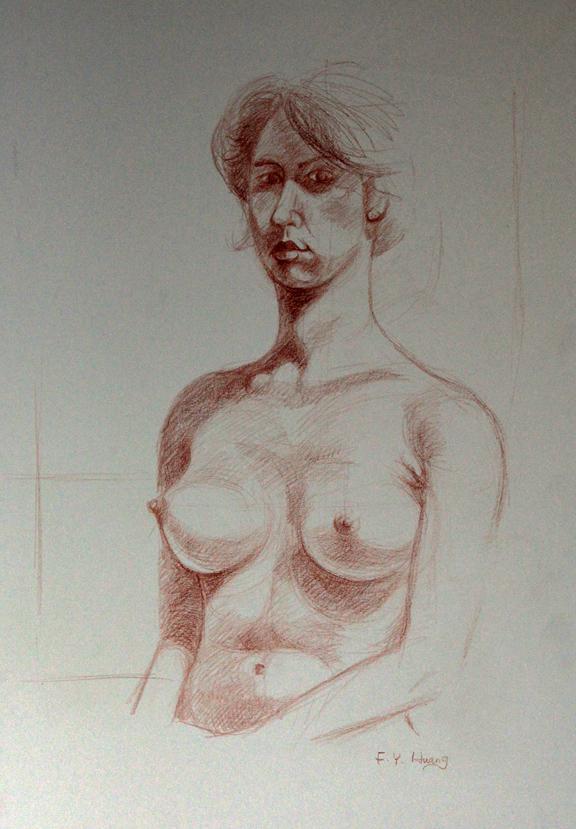 Female Figure Study 20 (conte)