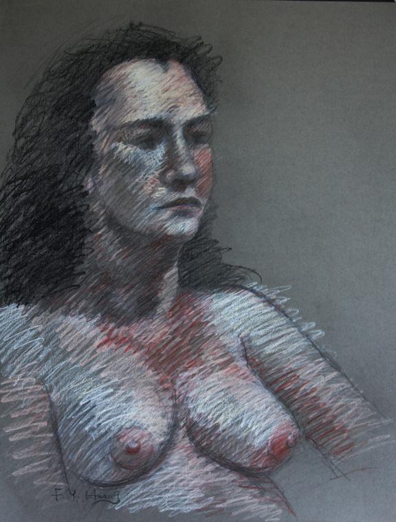 Female Figure Sketch 01 (conte)