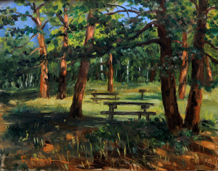 Forest in Morning (oil)