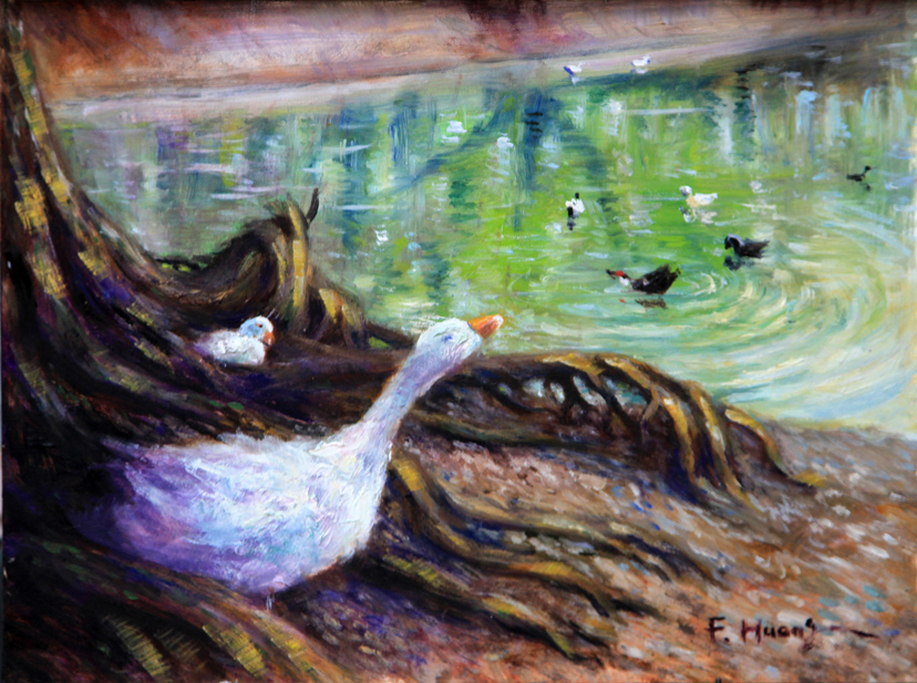 Goose family (oil)