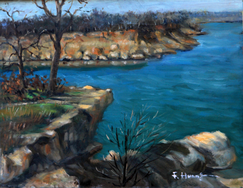 Rocky Lake Banks (oil)
