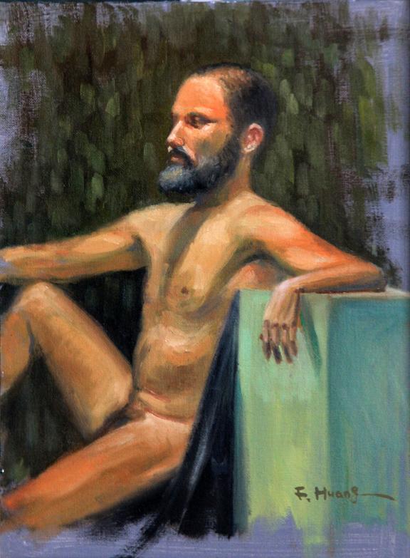 Male Nude 12 (oil)