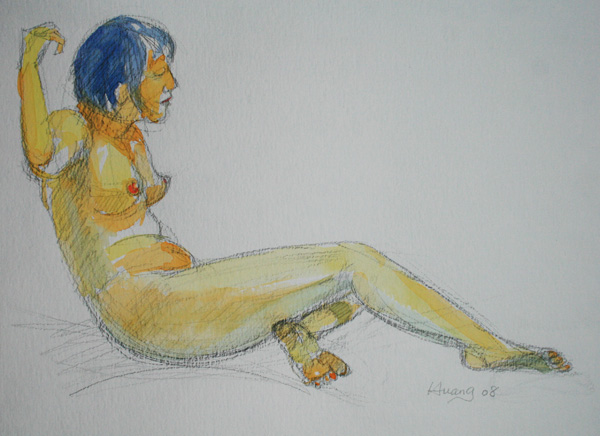 Female Figure Study 04 (water color)