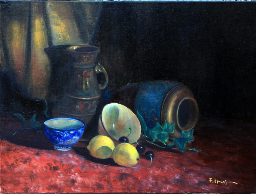 My Collections and Fruits (oil)