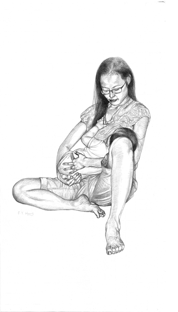 Nursing (graphite)