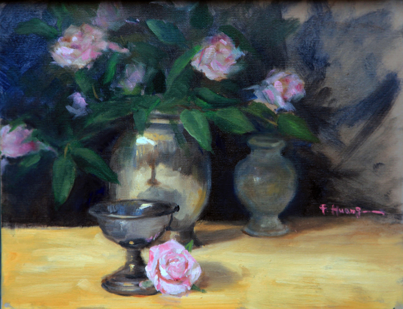 Roses and Silver Cup (oil)