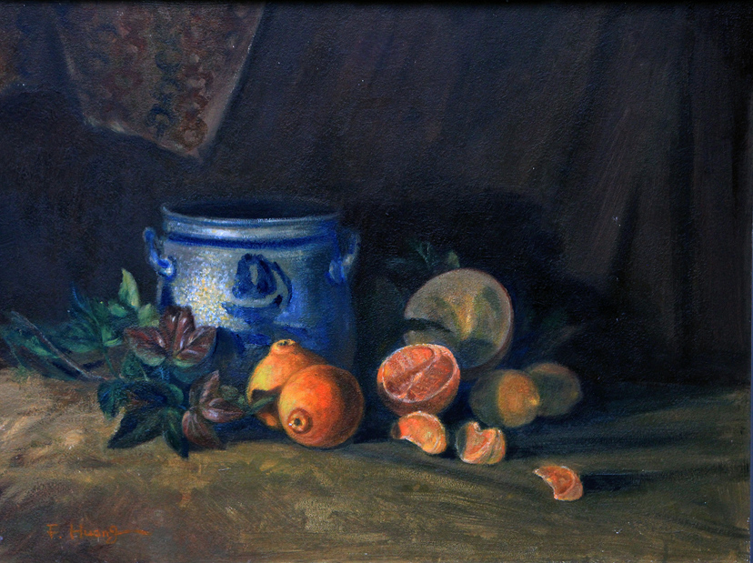 My Collections and Oranges (oil)